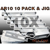 10 x AR-10 80% Lower Receivers with Jig Set Package
