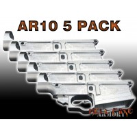 5 x AR-10 80% Lower Receivers