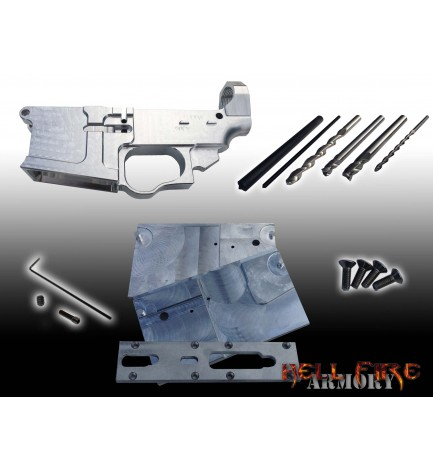 AR15 Lower Receiver, Jig and Tooling with Punches