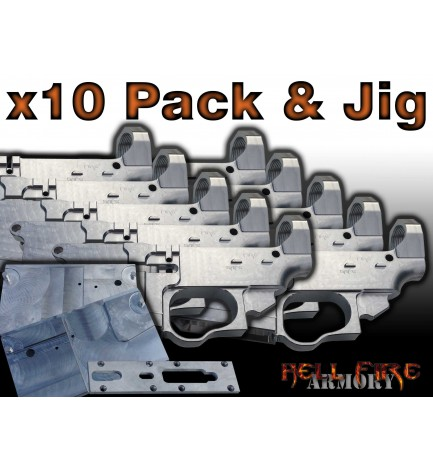 10 x AR-15 80% Lower Receivers with Jig Set Package