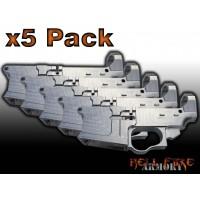5 x AR-15 80% Lower Receivers