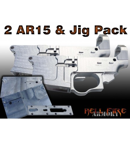 2 x AR-15 80% Lower Receivers with Jig Set Package
